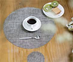 2019 round weave placemat pvc dining table mat disc pads bowl pad coasters waterproof table cloth pad slip resistant from adeir 39 8 dhgate com