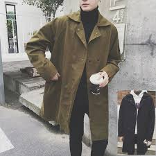 men s outer convertible collar coat coat trench coat long sleeves longus reeve over size men s big size 20s 30s 40s casual clothes coordinates fashion trend