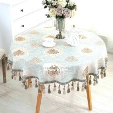 inch round tablecloth x fits what size table fall 52 120 fi