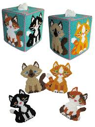 Free Plastic Canvas Patterns To Print Classy Needlework Patterns Cuddly Kitty Decor Plastic Canvas Pattern