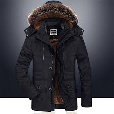 details about hot mens winter jacket hooded fur collar outdoor thicken warm parka coat