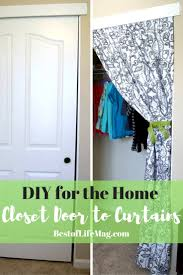 this diy closet doors to curtains transformation will give any room in your home an instant