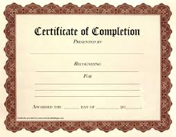 Certificate Of Completione Free Download Microsoft Word Ulyssesroom