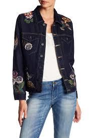 blanknyc denim embroidered denim jacket culture vulture jackets 100 cotton xuo 52455