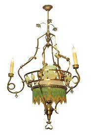 art nouveau chandelier large century art oil or gas converted chandelier bathroom lighting style glass for art nouveau chandelier