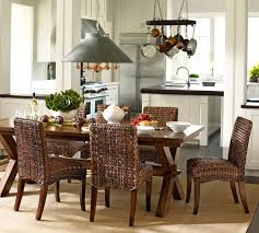 classic dining room design with toscana extending rectangular pottery barn kitchen rugs and table seagrass chairs