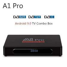 A1 Pro 4K Android 9.0 TV Box Amlogic S905D 1GB 8GB DVB T2 Digital TV Tuner  Combo DVB S2 TV Satelit Receiver DVB C H.265 HEVC|Set-top Box
