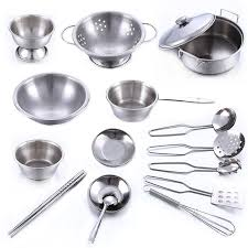 kitchen utensils. Plain Utensils Kids Stainless Steel Kitchen Cooking Utensils Pots Pans Food Gift Miniature  Tools Set Simulation Play To T