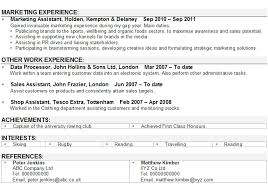 cv template retail sample marketing assistant resume