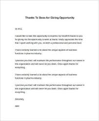 Thank You Letter For Business Opportunity Sample Sample