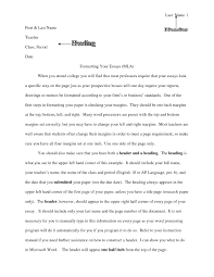 College Format Essay College Essay Format Template Writings And Essays Corner