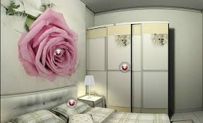 wall art stickers and wardrobe for bedroom 3d house
