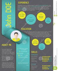 Modern Resume Template 2013 Modern Curriculum Vitae Resume Template With Ribbon Stock