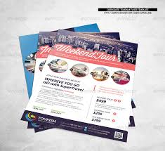 World Travel Tourism Flyer Template By Katzeline | Graphicriver