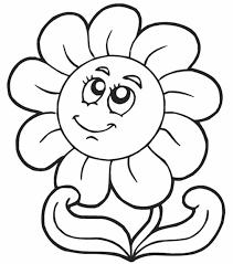 Disegno Di Fiore Semplice Per Bambini Piccoli Da Stampare Gratis E