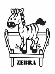 Small Picture Zebra Coloring Pages Getcoloringpagescom Cute Page Free Printable