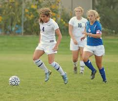 Soccer girl play in
