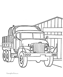 Small Picture Military Truck Coloring Pages 003