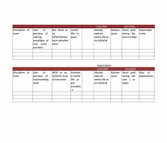 Fixed Asset Depreciation Schedule 35 Depreciation Schedule Templates For Rental Property Car Asserts