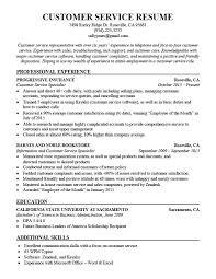 Service Specialist Sample Resume Podarki Co