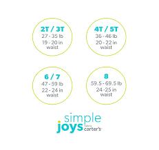 Simple Joys Carters Size Chart Details About Simple Joys By Carters Little Kid Boys 8 Pack Underwear