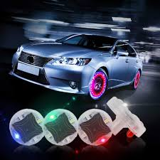 Wheel Lights Carlits Car Tire Wheel Lights 4pcs Car Wheel Tire Air Valve Hub Lamp Cap Light With Motion Sensors Colorful Led Tire Light Gas Nozzle For Car