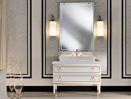 rectangle white wooden vanity with drawers and four legs under silver frame wall mirror among modern bathroom magnificent contemporary bathroom vanity lighting
