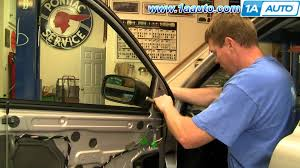 mirror repair. how to install replace side rear view mirror volvo xc90 03-12 1aauto.com - youtube repair