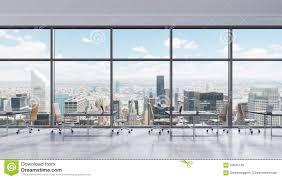 Arbeitsplätze In Einem Modernen Panoramischen Büro New York