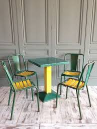Xavier pauchard french industrial dining room furniture Marais Industrial Green Dining Set By Xavier Pauchard For Tolix 1950s Pamono Industrial Green Dining Set By Xavier Pauchard For Tolix 1950s For