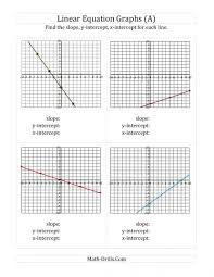 fascinating graphing linear equations worksheet with answer key jennarocca systems of glencoe algebra find slope y