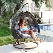 hanging chair. Outdoor Hanging Chair With Stand By Island Gale S