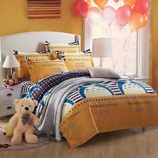 home textiles cartoon cotton ro printed bedding sets kids like super king size bed sheet duvet