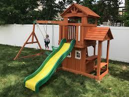backyard discovery tanglewood cedar wooden swing set fresh