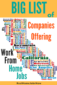 work from home jobs california 0317