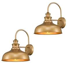 inches barn light fixture gold finish