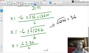 9 4 solving quadratics using the quadratic formula integer solutions