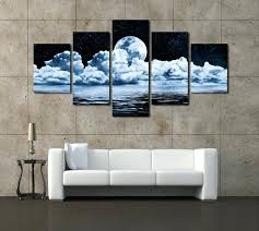 wall art in frames real canvas painting wall frames 5 panels moon canvas print painting wall art in frames