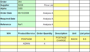 purchase order spreadsheet multi order spreadsheets sage 1000 excelerator help