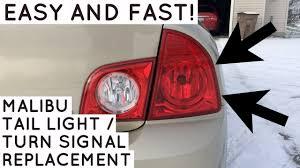 2001 Chevy Malibu Brake Light Bulb Chevy Malibu Turn Signal Brake Light Replacement Fast And Easy How To 2008 2012