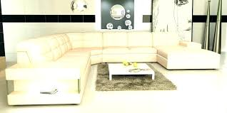 cream leather sectional sofa modern and white colored