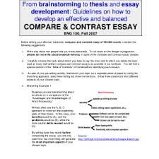 cover letter template for comparison and contrast essay example  essay comparison and contrast examples thesis for compare contrast essay example thesis generator and examples