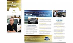 Security Company Brochure Templa On Political Brochure Campaign ...