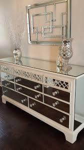 diy mirrored furniture. Mirrored Dresser Old White With Diamond Overlay, Chic Mirror Annie Sloan Chalk Diy Furniture