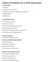 Science Projects Reports Sample Software Requirements Specification Document With Example Krazytech
