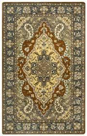 valintino soft wool rectangular area rug 9 x 12 blue tan brown green navy taupe