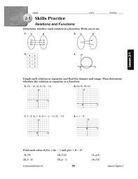 best solutions of practice 5 2 relations and functions worksheet kidz activities in algebra relations