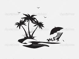 Beach Clipart Silhouette ClipartXtras
