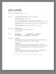 Resume Template Free Word 2003 Professional Resumes Sample Online