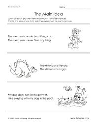 Main Idea Worksheet 5 Main Idea And Details 1 2 Power Practice ...